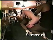 Wife with a small ass taking on multiple black cocks