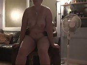 Mature slut with tan-lined tits fucking a BBC