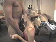 Blonde wife having sex with a black man
