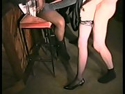 Curly haired blonde gets her muff licked and BBC filled