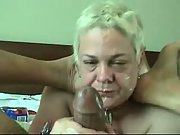 Blonde mature wife gives a soapy massage to her black lover