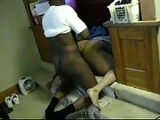 Hunky black dude shagging her from behind